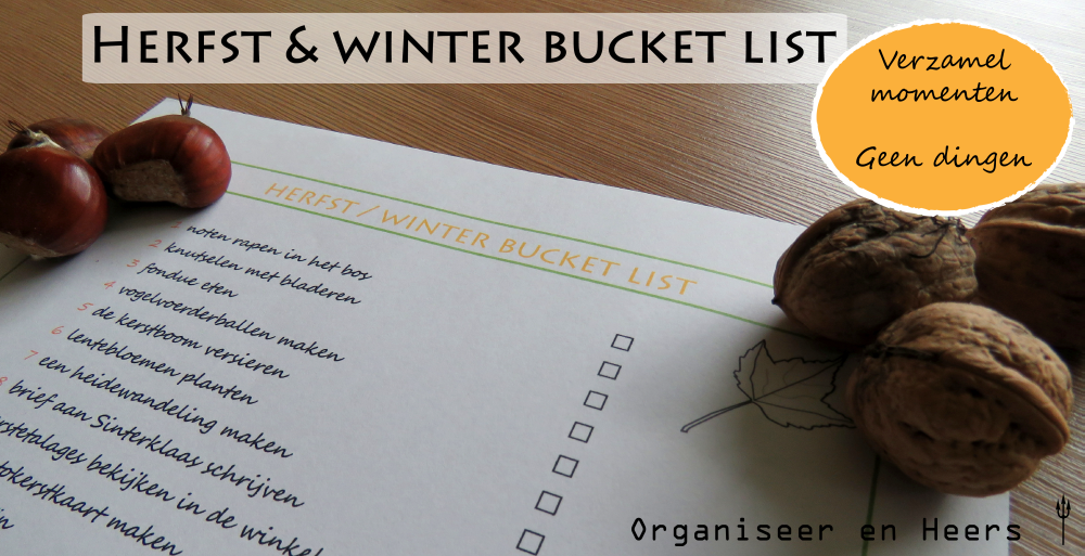 bucketlist herfst winter
