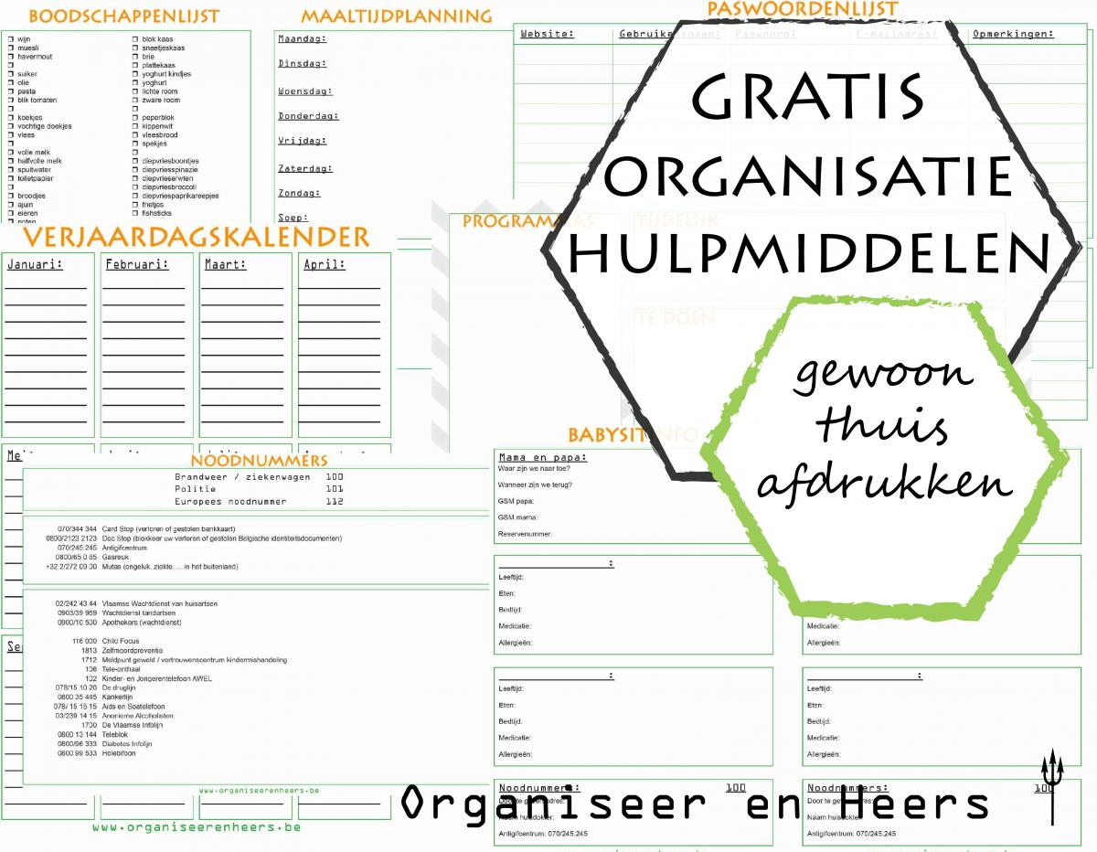 organisatie hulpmiddelen